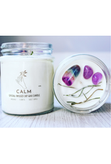 Candle -Crystal  -Calm