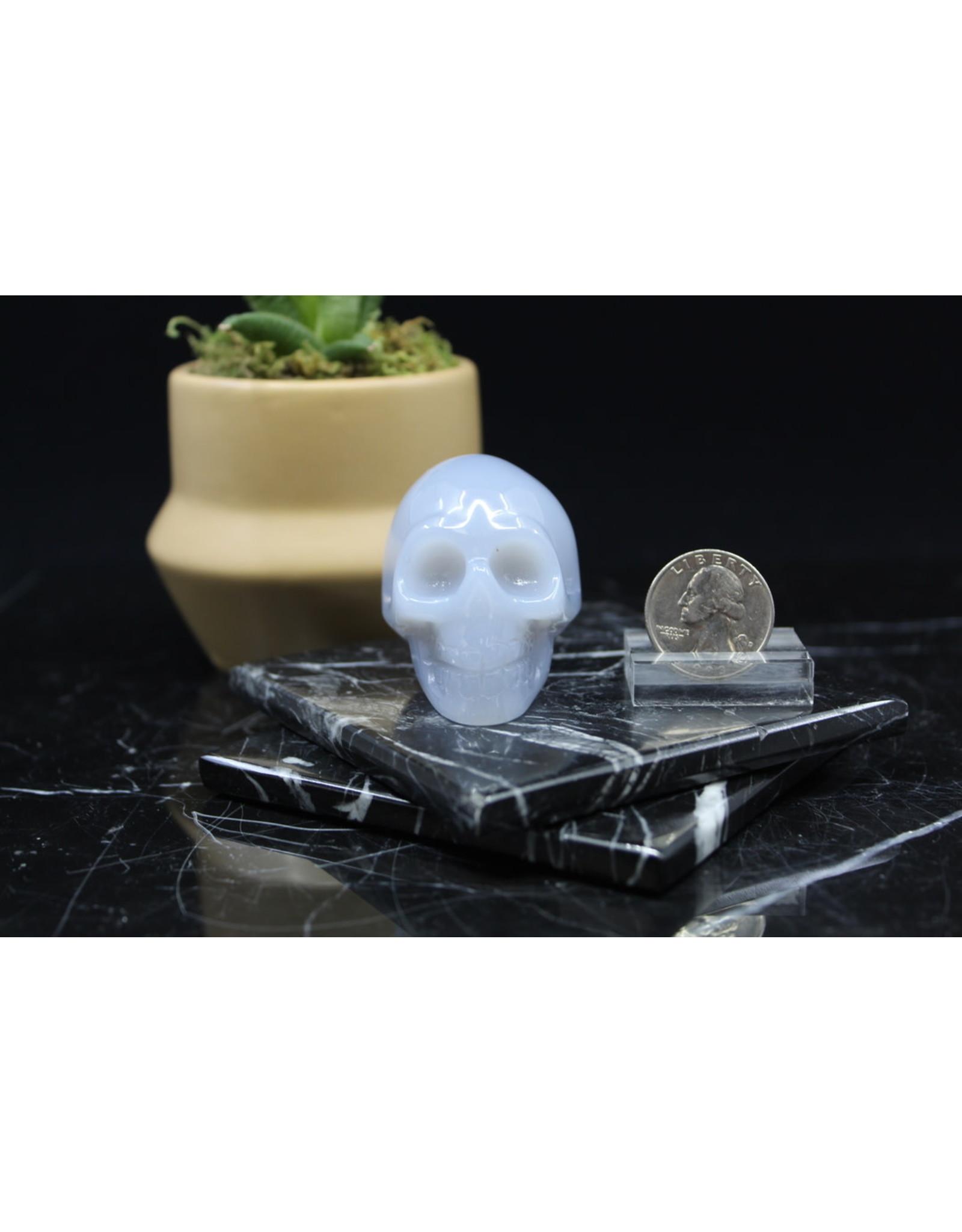 Blue Chalcedony Skull-Medium