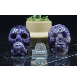 Chevron/Dream Amethyst Skull-Large