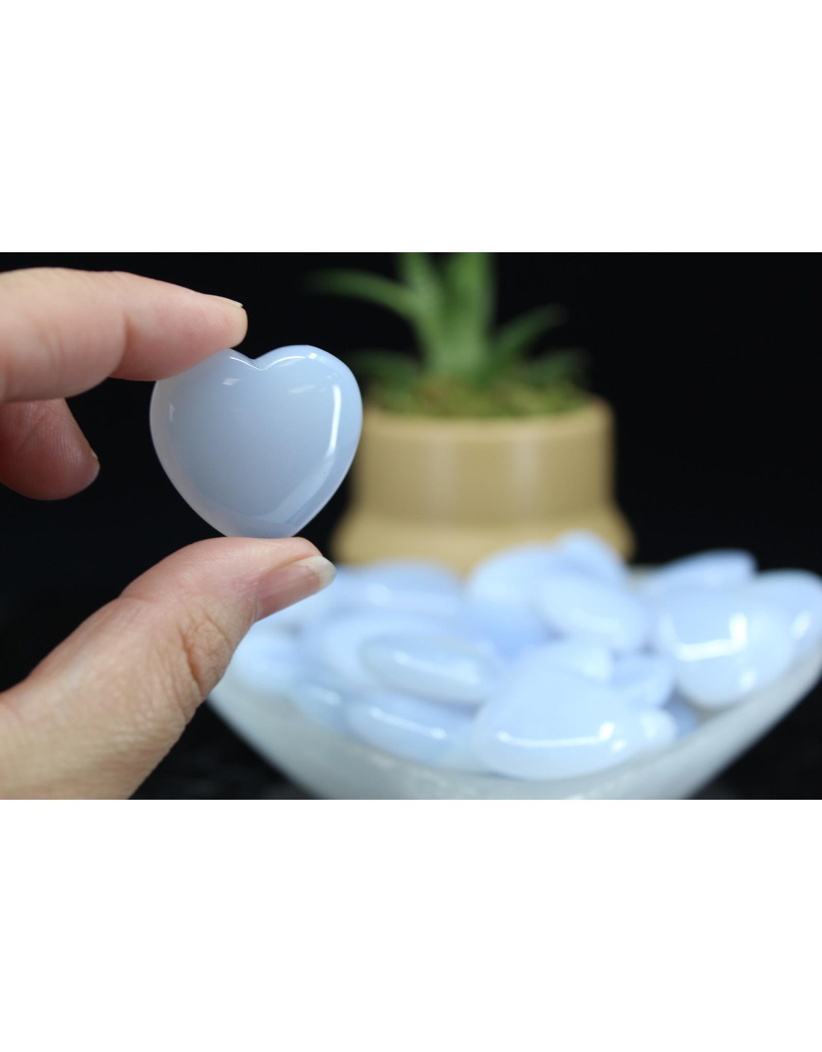 Blue Chalcedony Heart