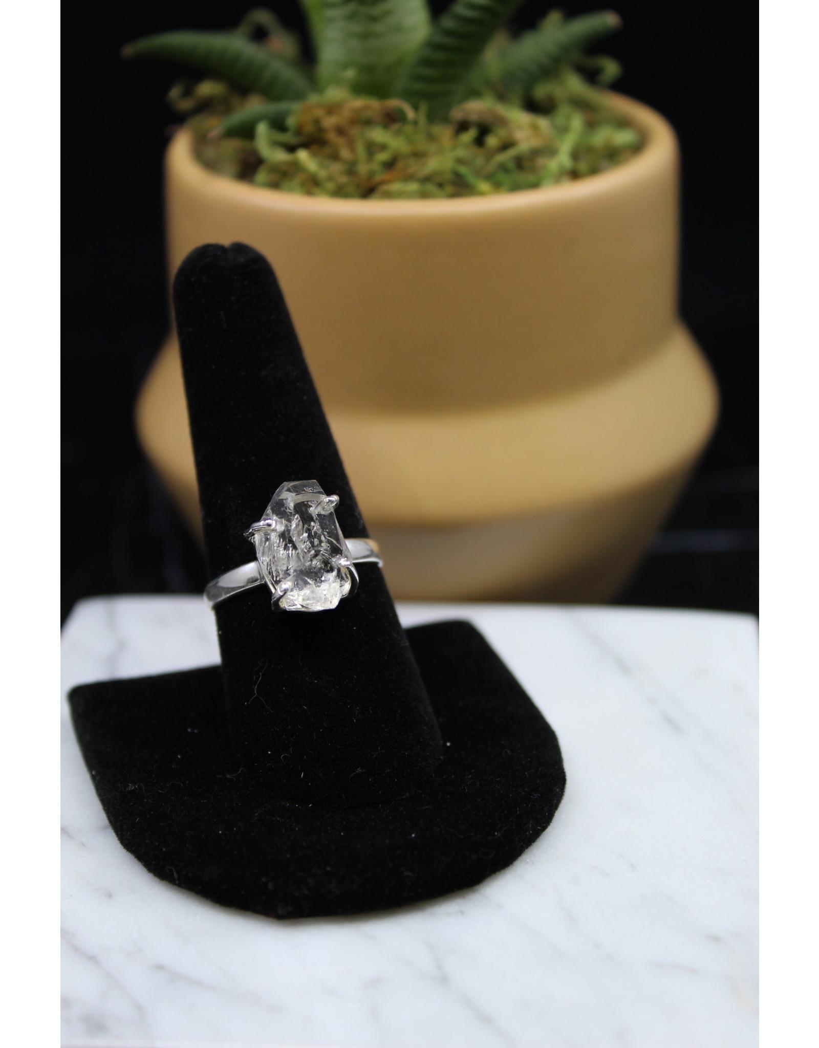 Clear Quartz Ring - Size 9