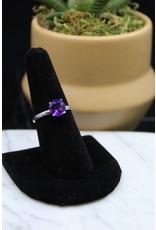 Amethyst Ring (Round) - Size 8