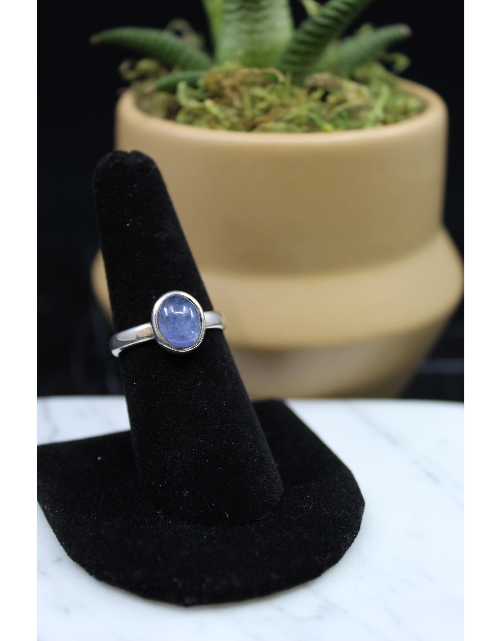 Blue Kyanite Ring (Oval) - Size 8