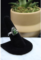 Diopside Ring (Rough) - Size 8