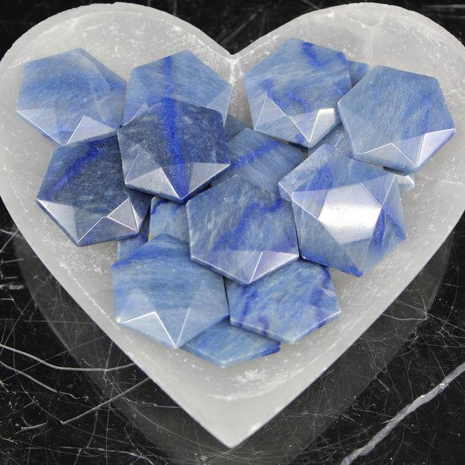 Blue Aventurine Star of David/Satellite - Medium