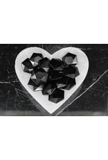 Black Obsidian Star of David/Satellite - Medium