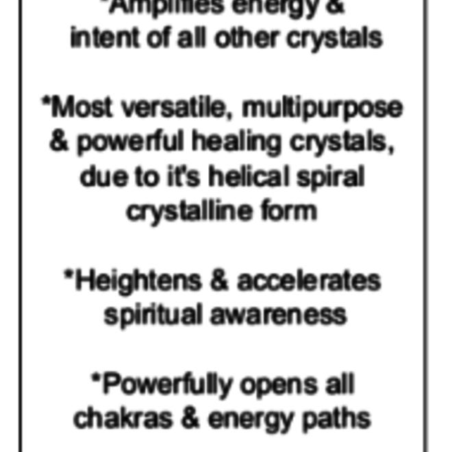 Clear Quartz Star of David/Satellite - Medium