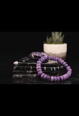 Bracelet -Charoite  - 10mm Rondelle