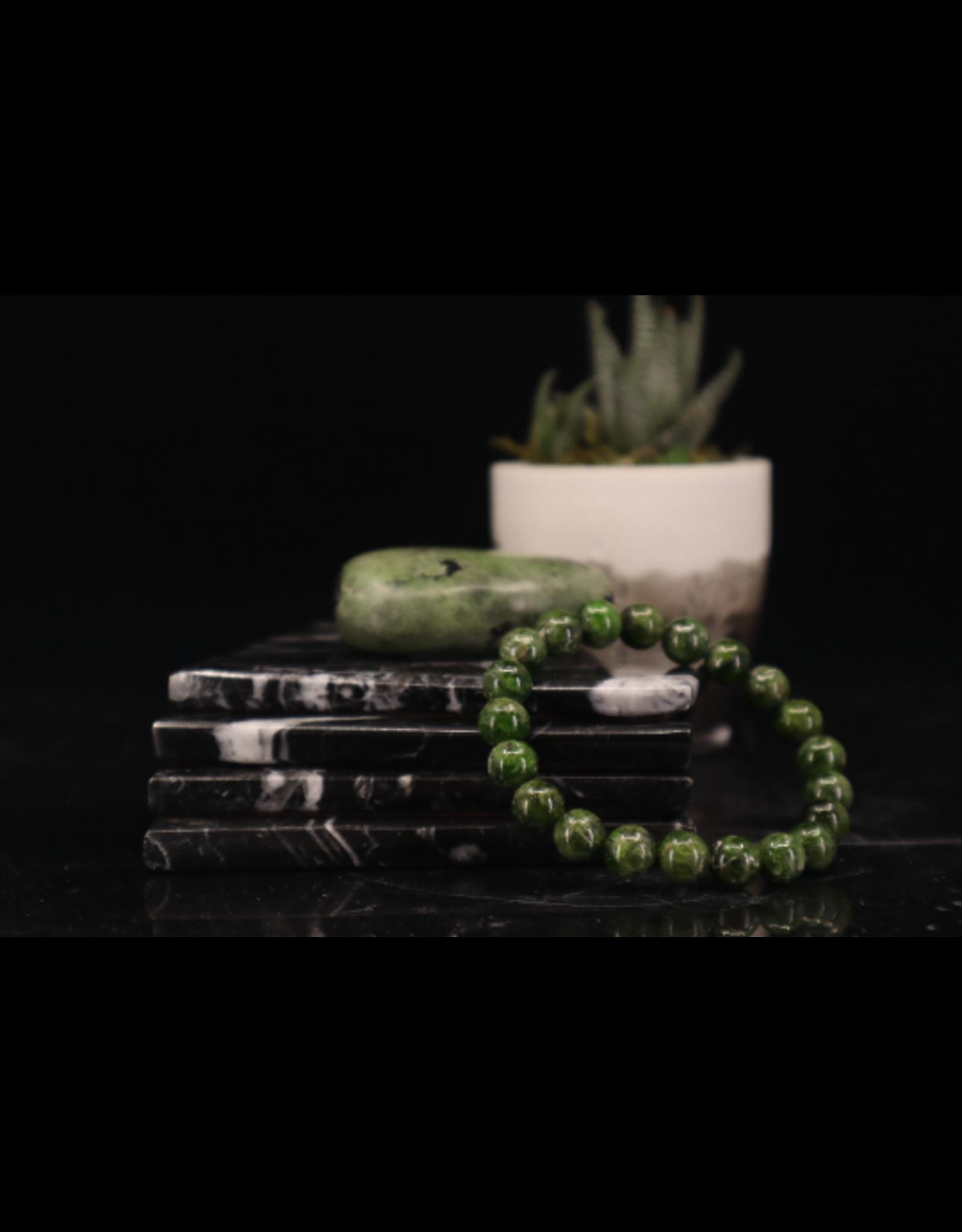 Bracelet -Chrome Diopside  - 8-9mm
