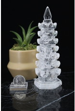 Clear Quartz Wind Chime (Wenchang) Tower