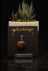 Boulder Opal Heart Pendant