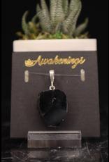 Black Tourmaline Pendants - 1/2 rough/polished