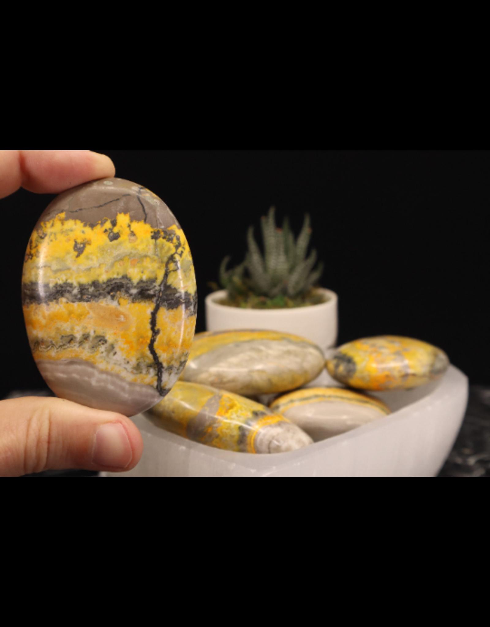 Bumblebee Jasper Palm/Pillow Stone -XL