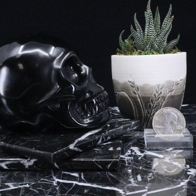 Black Obsidian Skull-Large