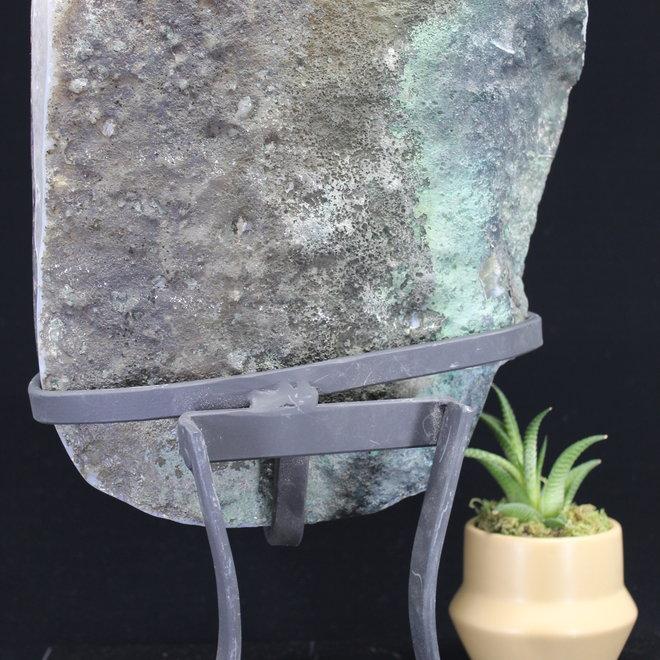 Amethyst Druzy Cluster on Metal Stand #4
