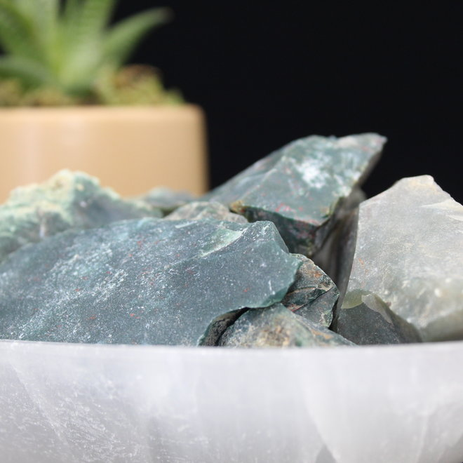 Bloodstone/Heliotrope - Rough Raw Natural