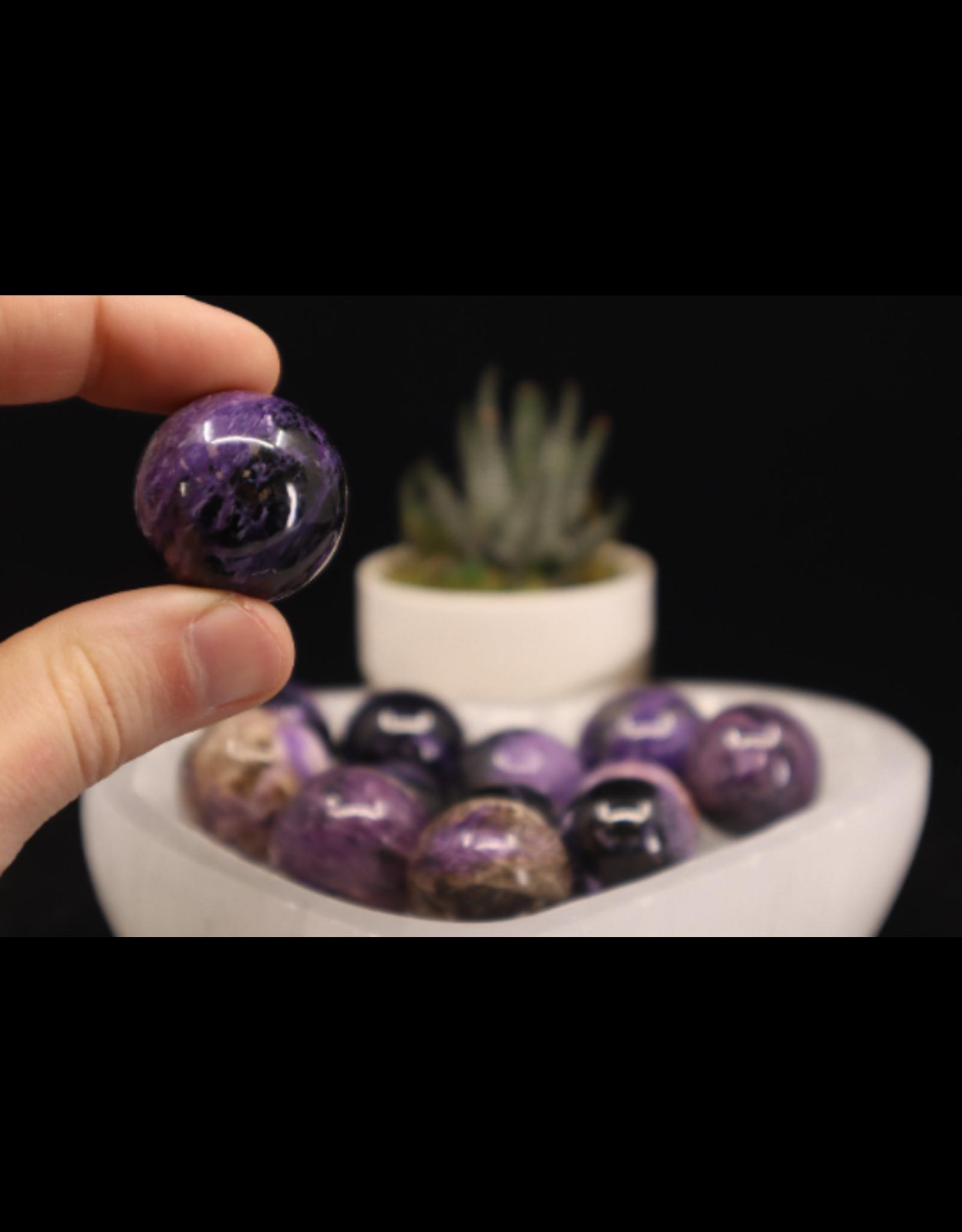 Charoite Sphere/Orb-10-15mm