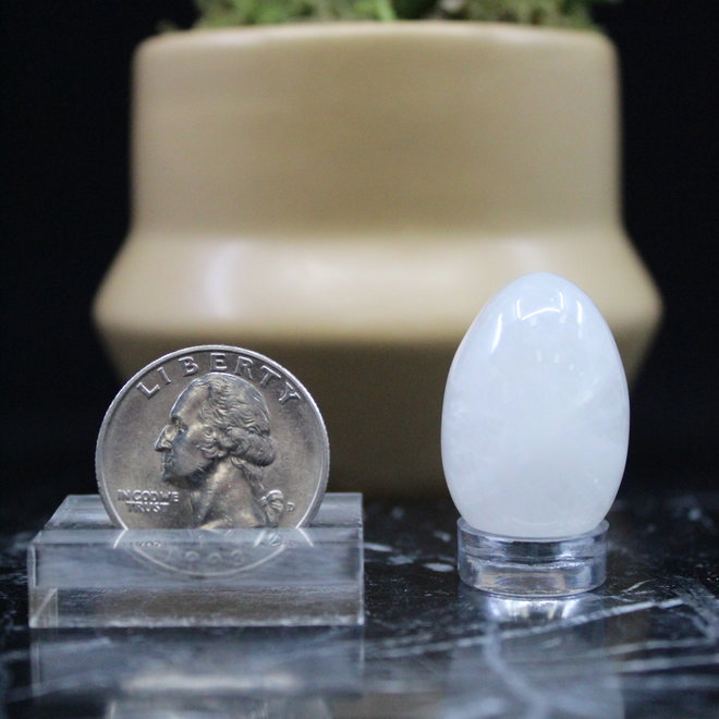Clear Quartz Egg - Small