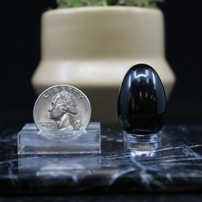 Black Obsidian Egg - Small