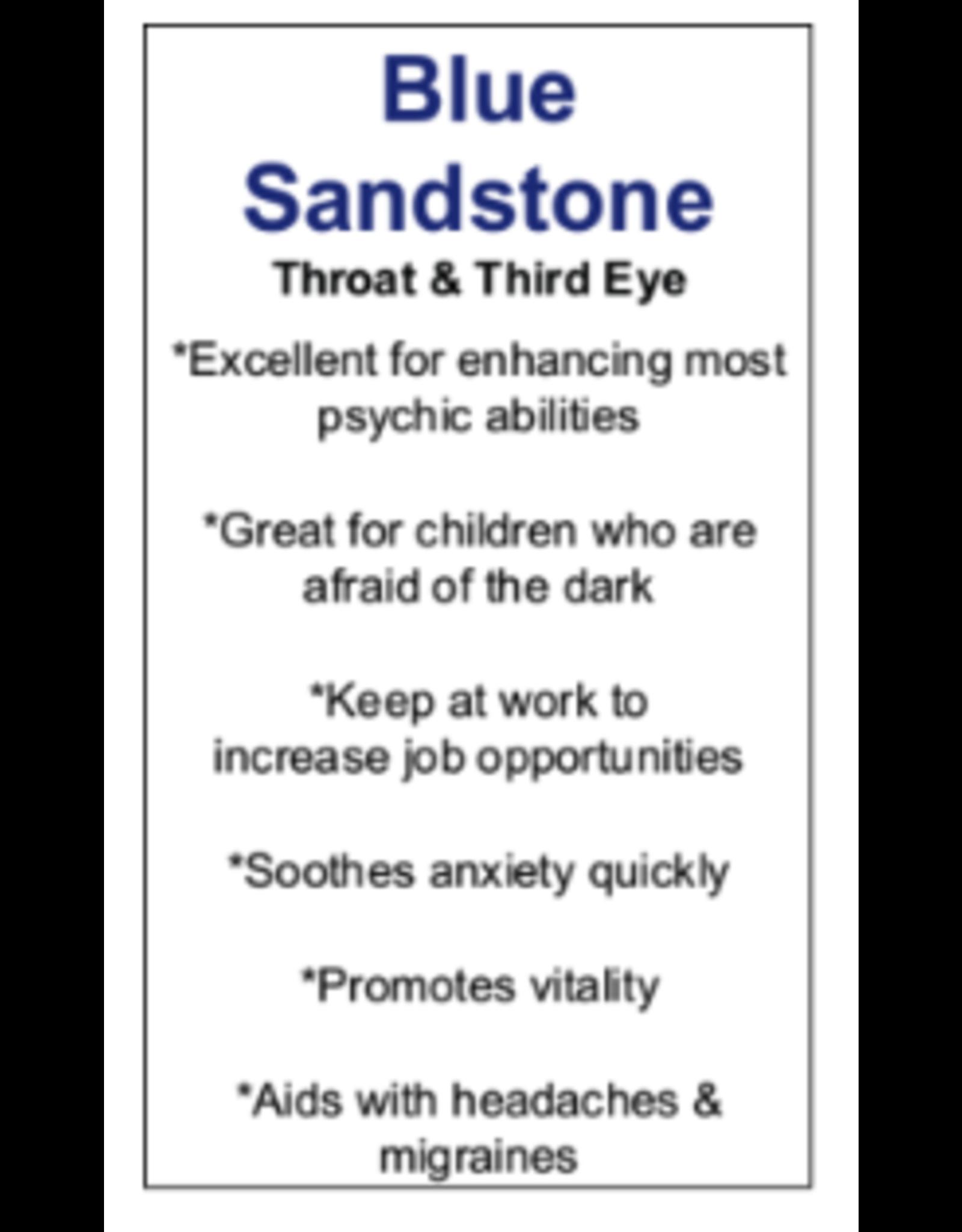 Blue Goldstone/Sandstone Rosette