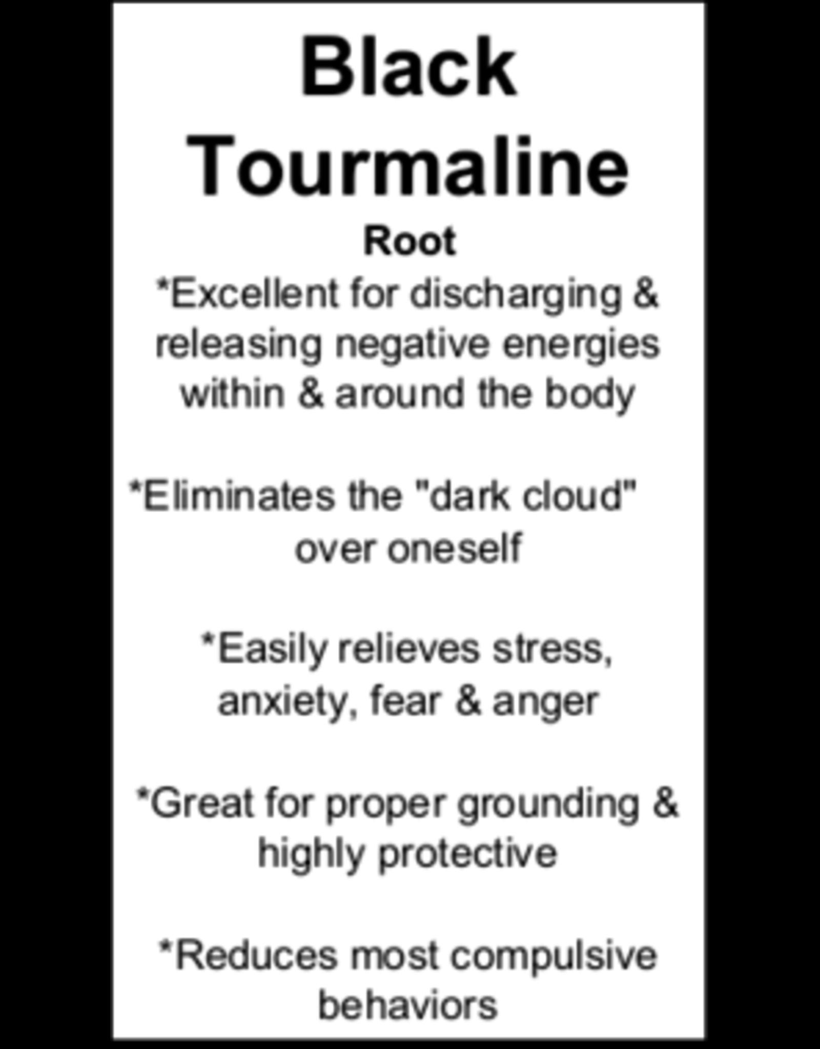 Black Tourmaline w/ Chrysocolla Tumbled-Large