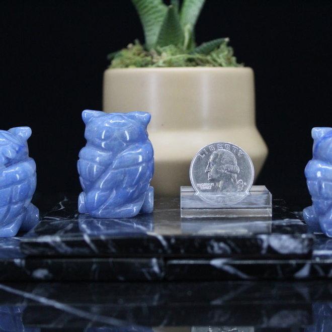 Blue Aventurine Owl-Small