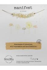Citrine Gemstone Seed Necklace to Manifest - SoulKu