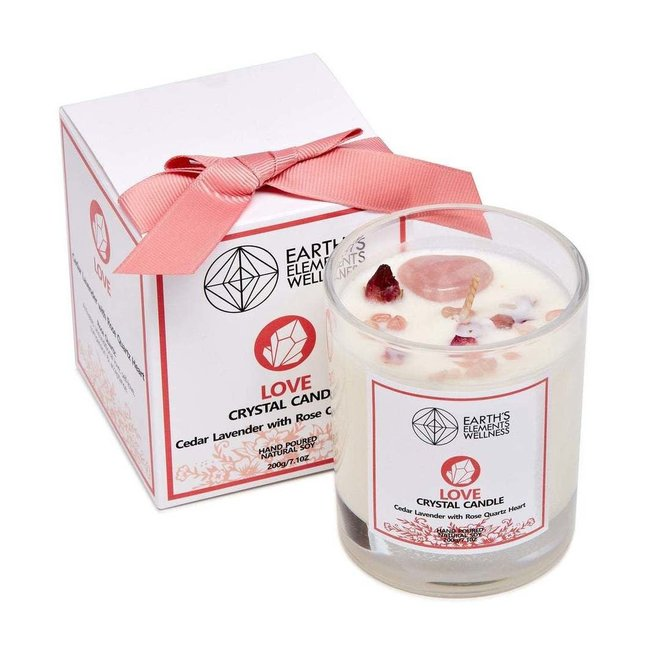 Candle - Earth Element's Crystal  - Love Candle