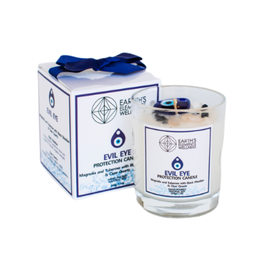 Earth Element's Crystal  - Evil Eye Protection Candle