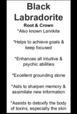 Black Labradorite/Larvakite Bracelet-8mm