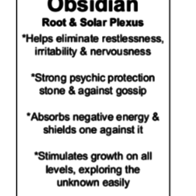 Black Obsidian Worry Stone-Heart