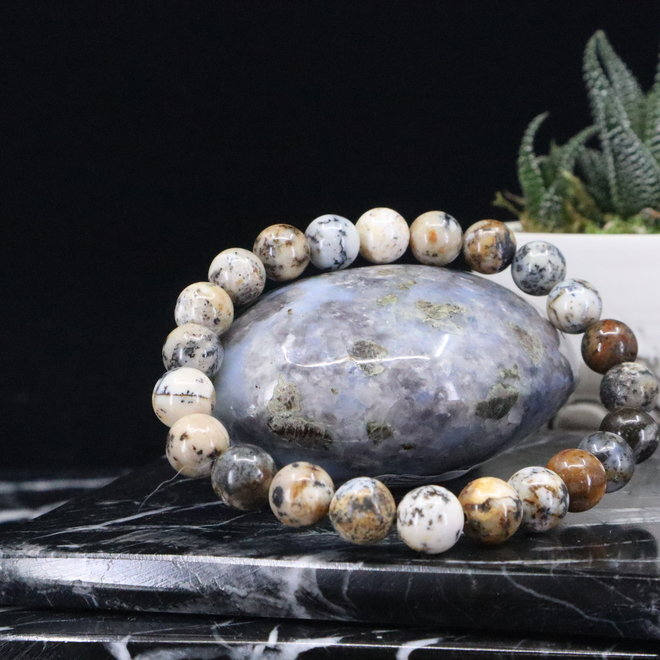 Dendritic Opal Bracelet-8mm
