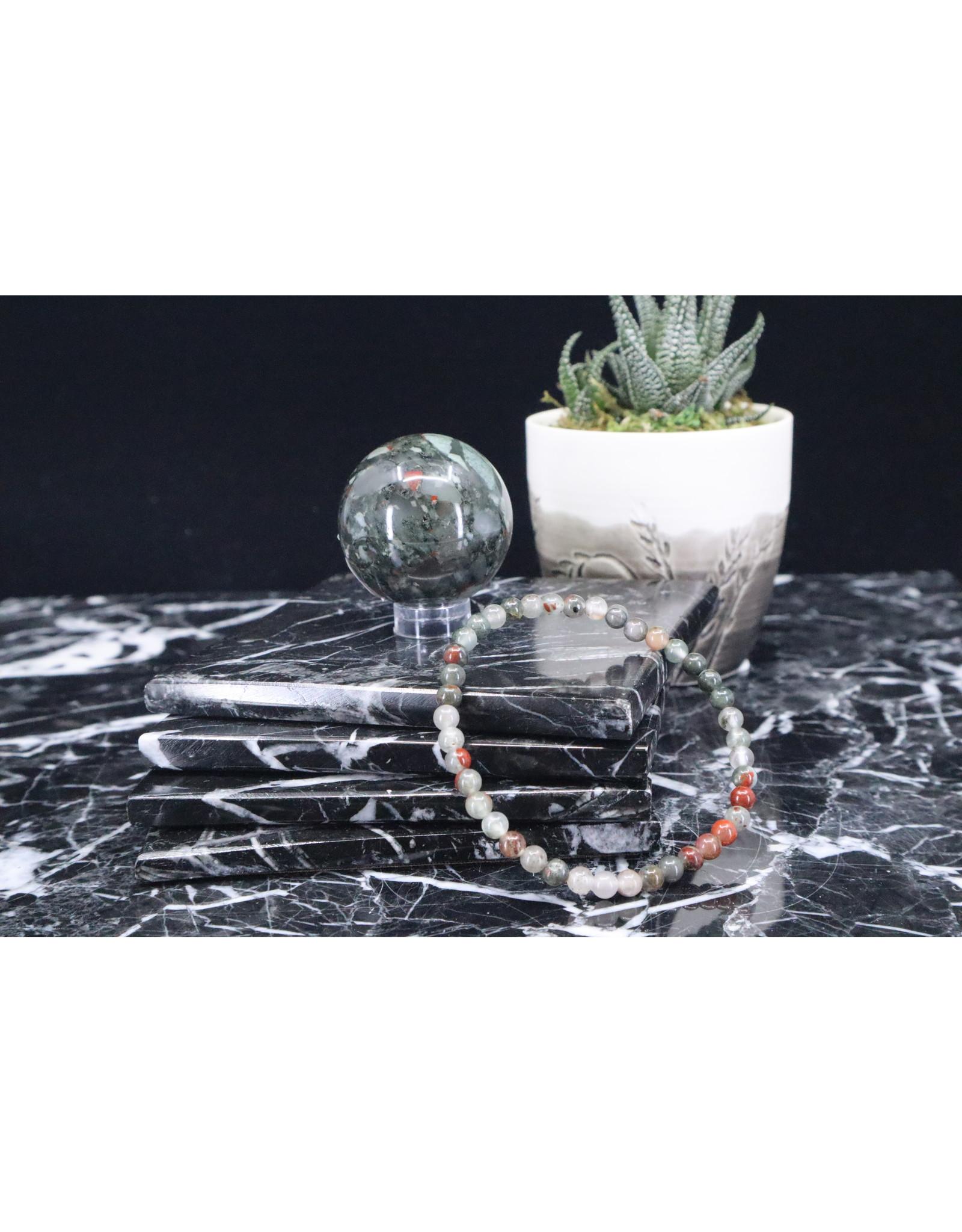 African Bloodstone/Seftonite Bracelet-4mm