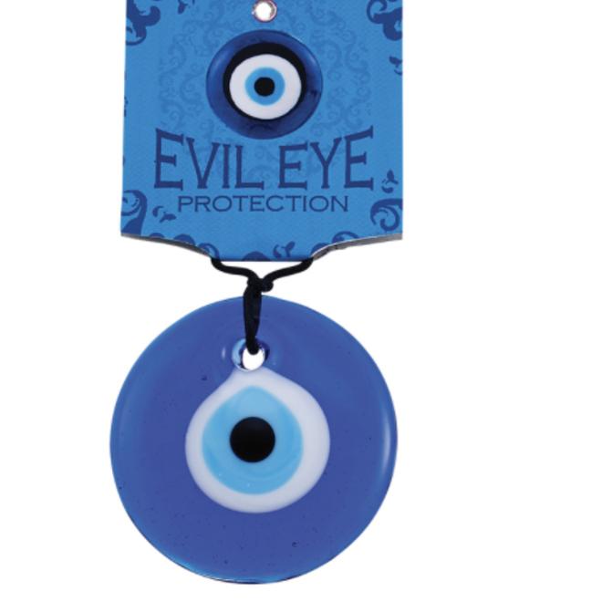 "Blue Glass Evil Eye 2.5"""