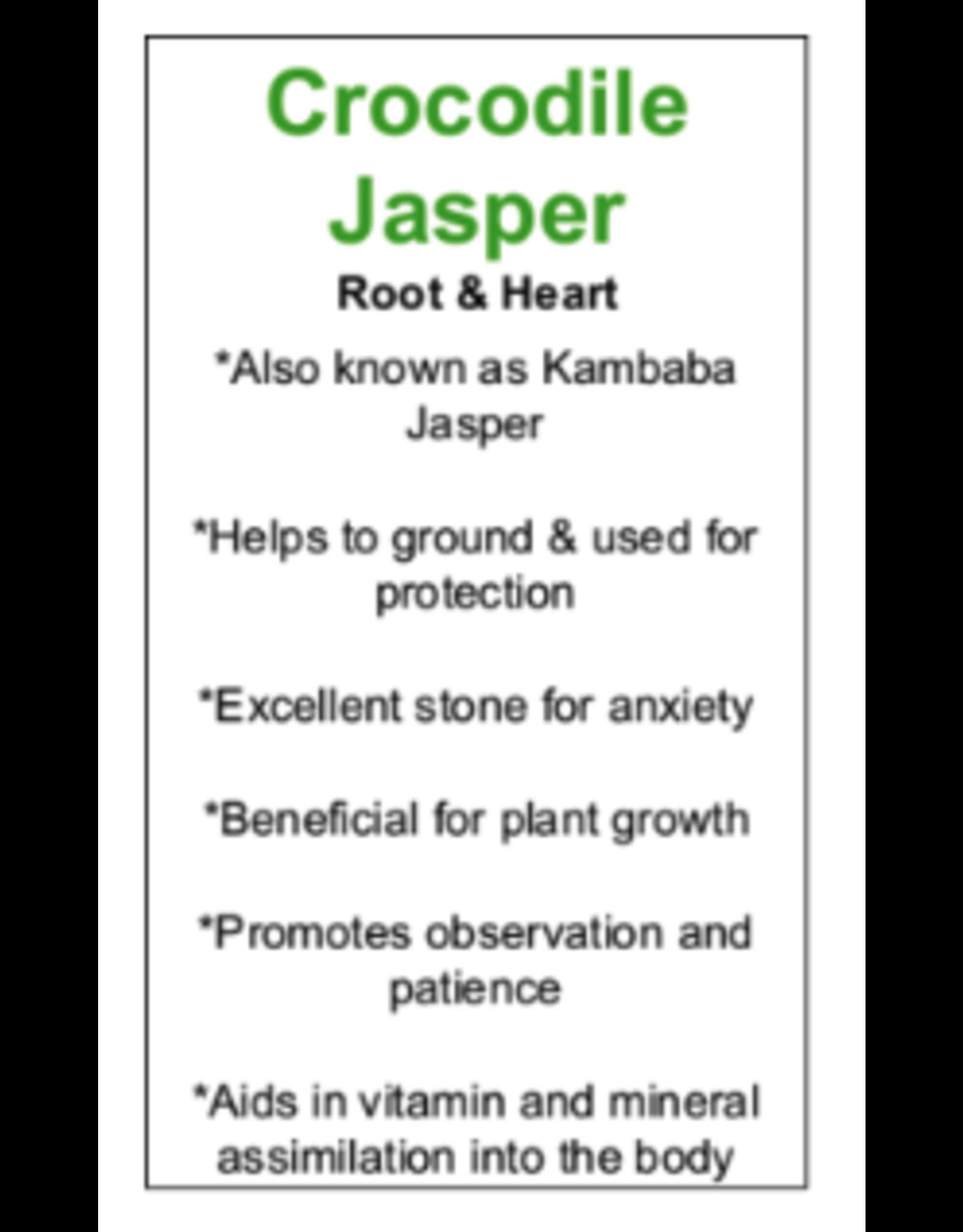 Crocodile/Kambaba Jasper Moons-Medium