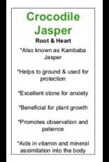 Crocodile/Kambaba Jasper Stars-Medium