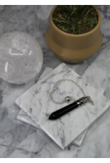 Pendulum -Black Obsidian Silver Capped