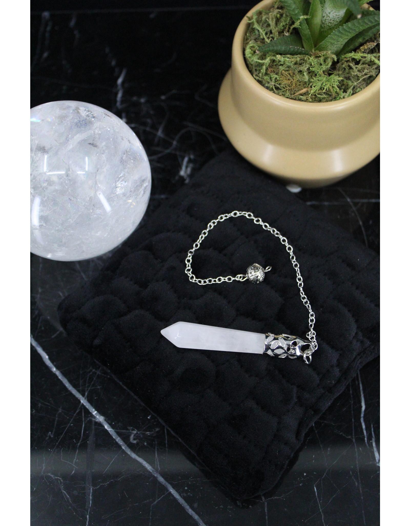 Pendulum -Clear Quartz Silver Capped