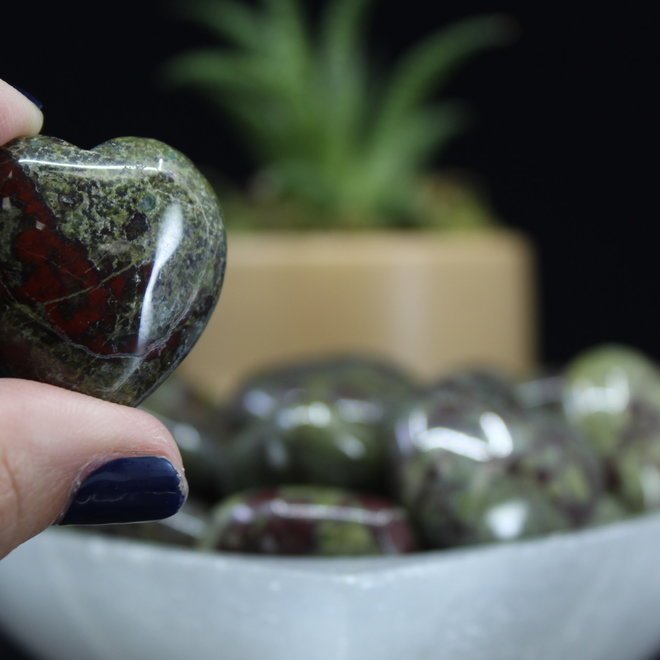 Dragon Bloodstone Jasper Heart Small