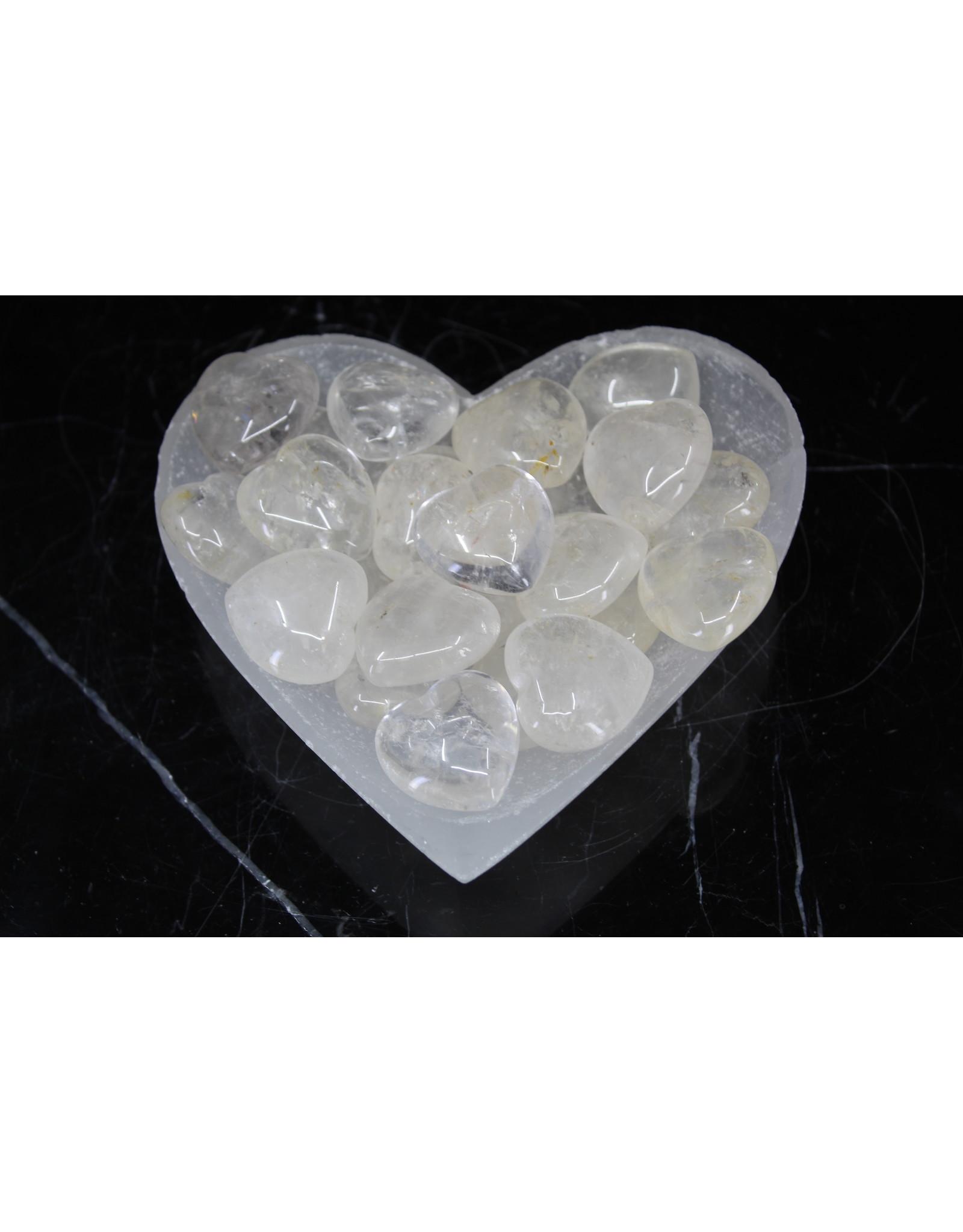 Clear Quartz Heart - Medium