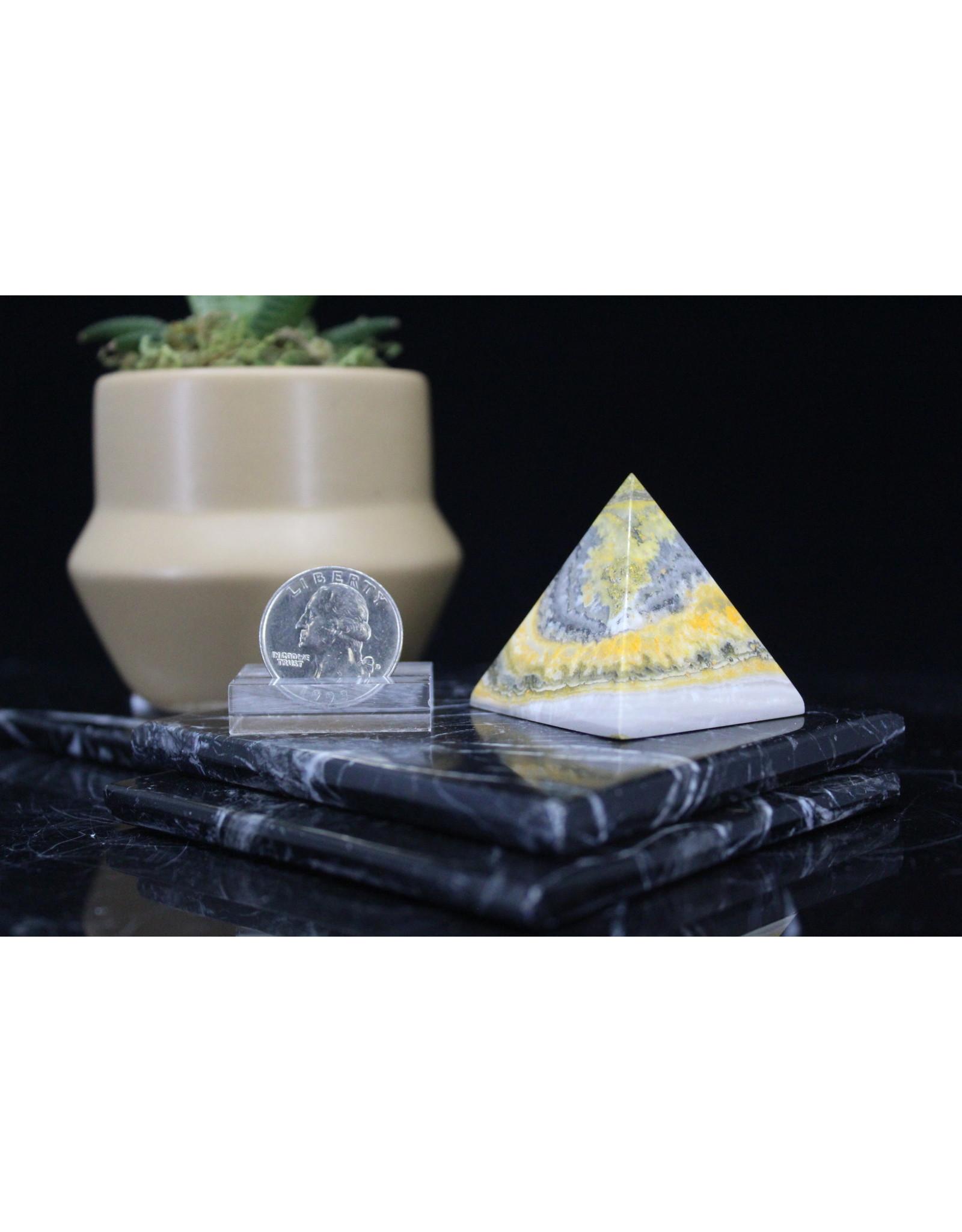 Bumblebee Jasper Pyramid - 40 mm