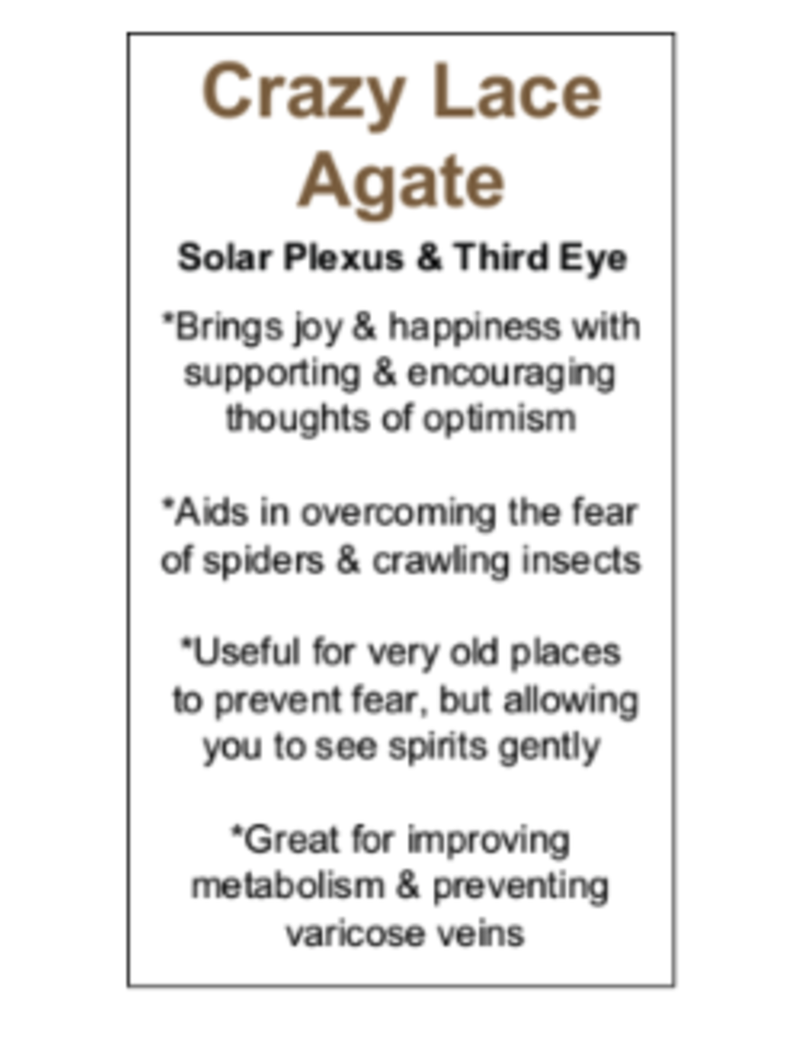 Crazy Lace Agate Massage Wand