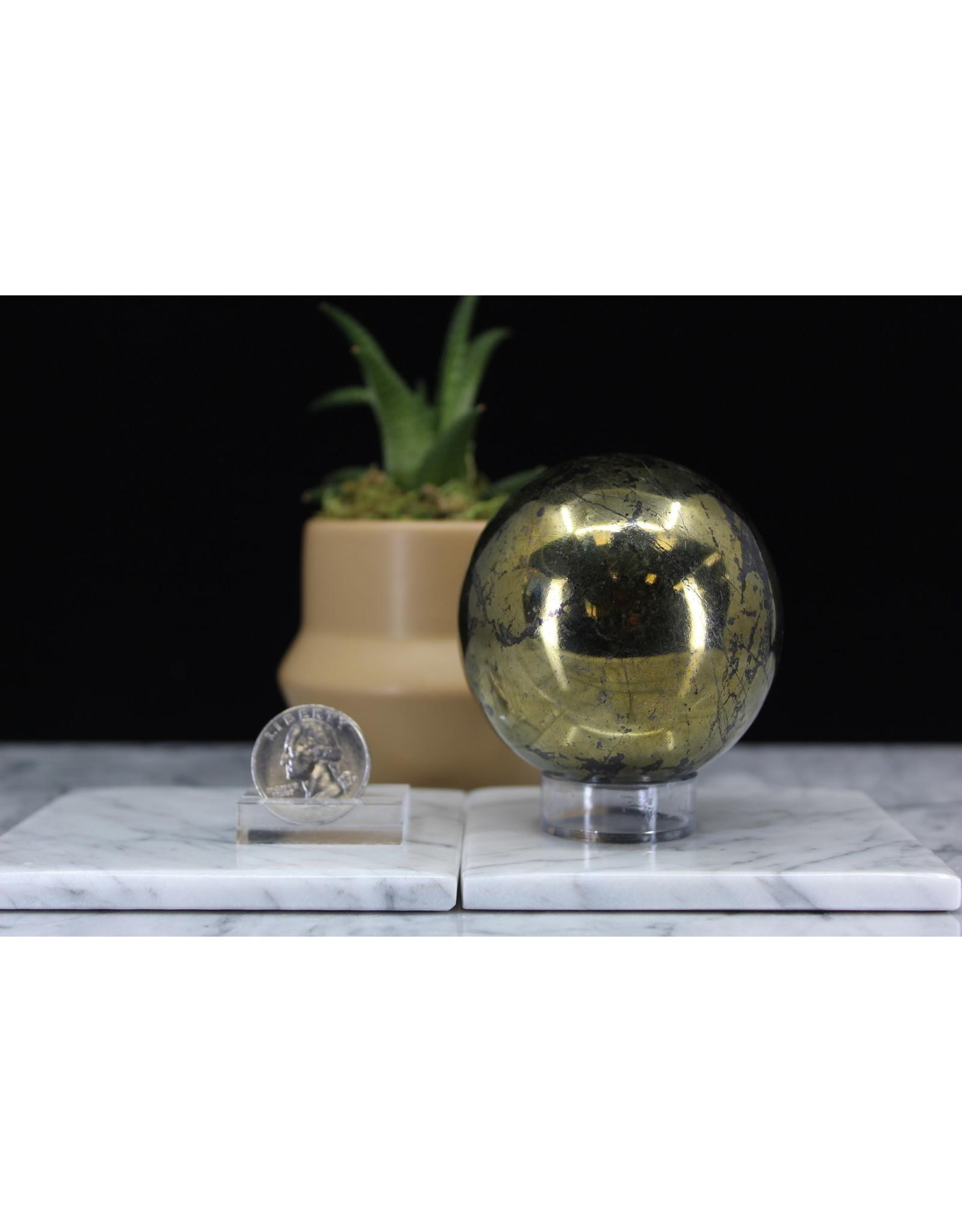 Chalcopyrite Sphere Orb - 65mm