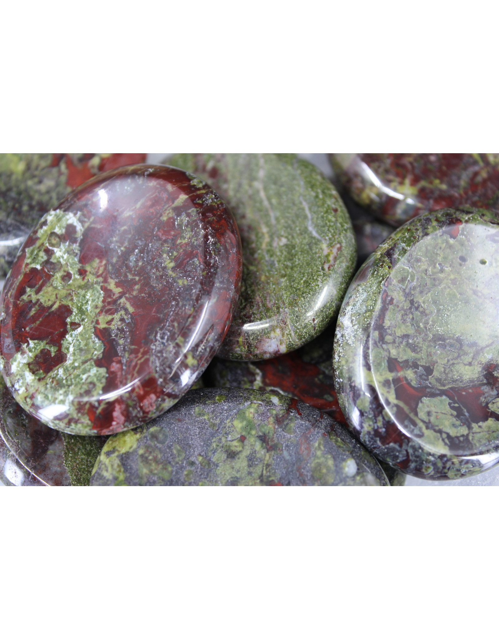 Dragons Bloodstone Worry Stone - Oval Large