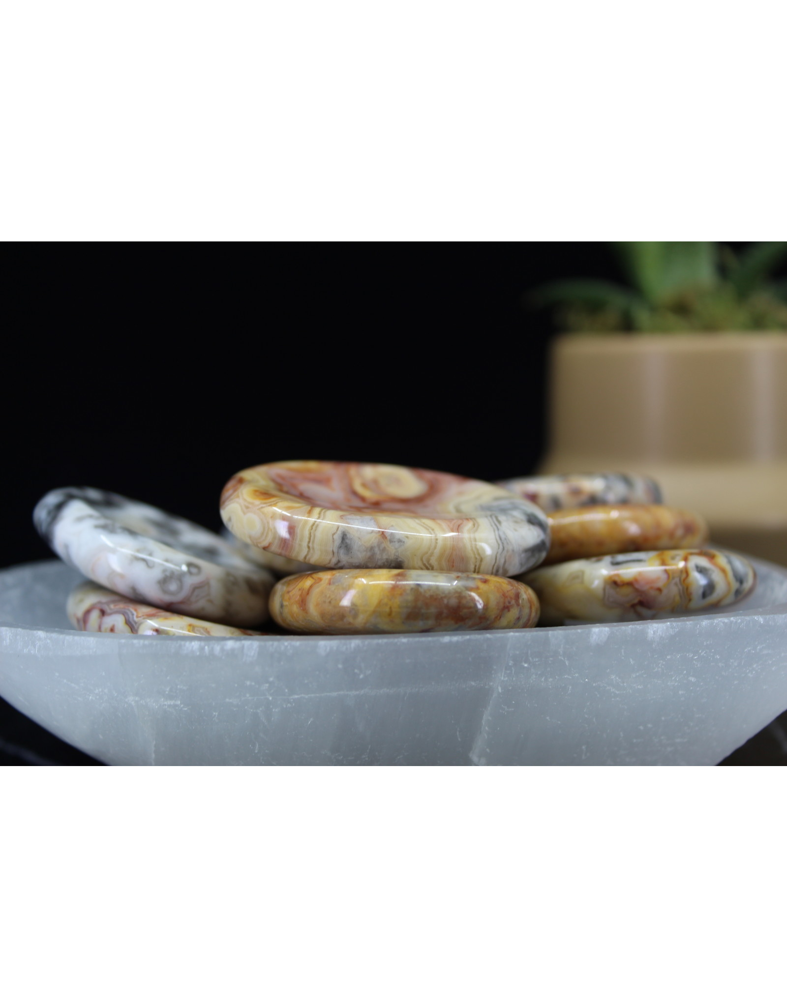 Crazy Lace Agate Worry Stone - Oval Large