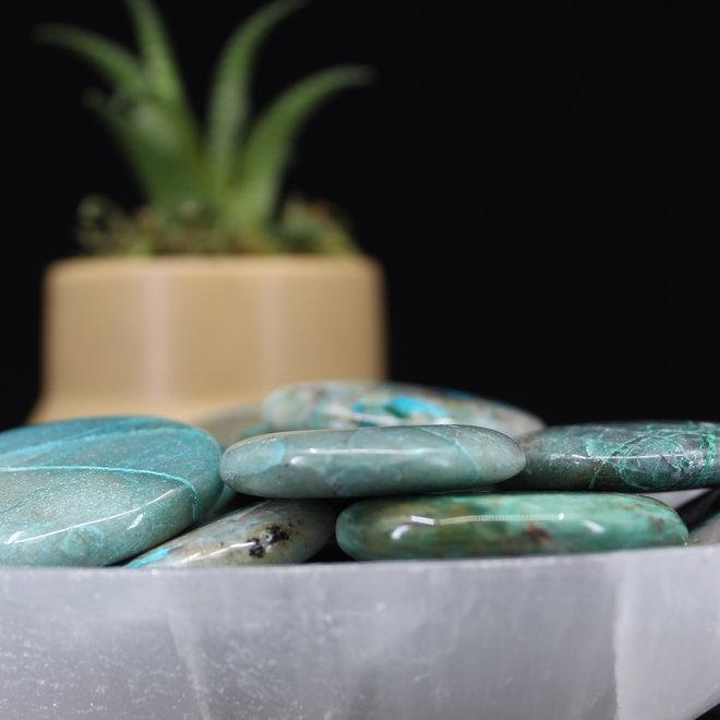 Chrysocolla Flat Palm/Pillow Stone