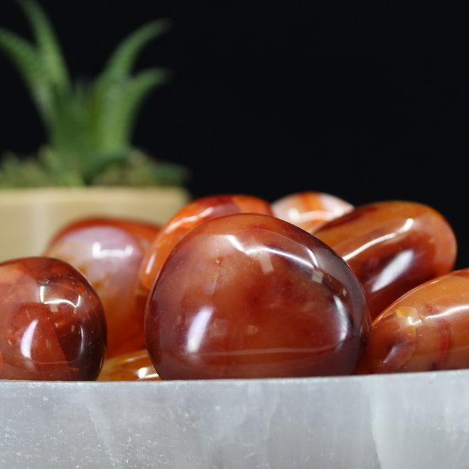 Carnelian Palm/Pillow Stone -Large