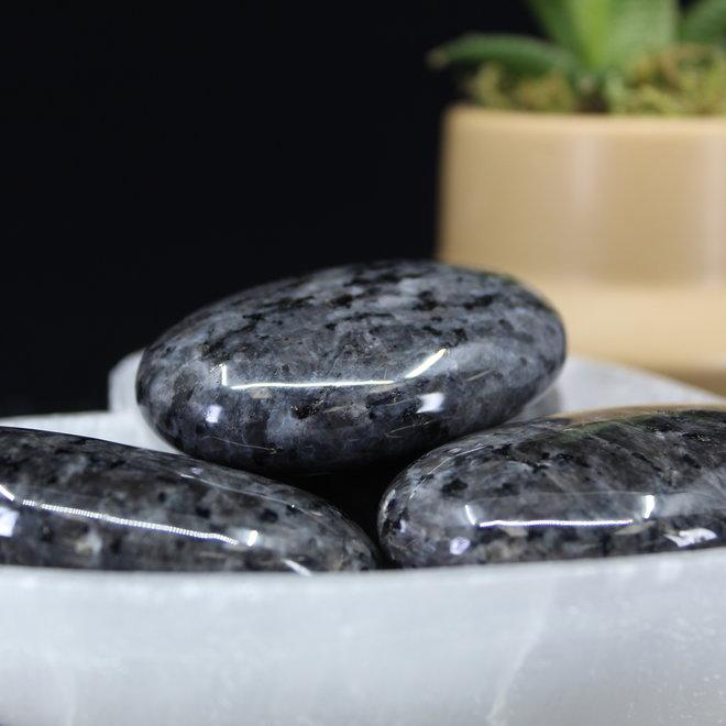 Larvakite Palm Pillow Stone-Large