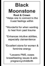 Black Moonstone/Larvakite Palm Pillow Stone-Large