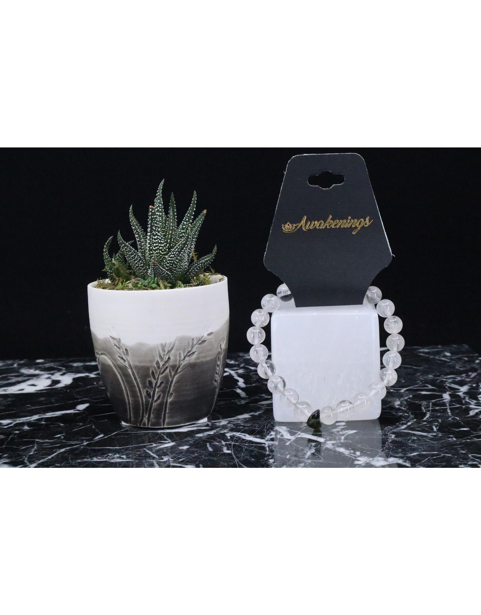 Bracelet -Clear Quartz & Moldavite